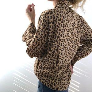VINTAGE/ paisley silk drape blouse
